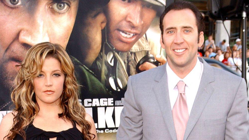 """Lisa Marie Presley y Nicolas Cage en el estreno de """"Windtalkers"""""""