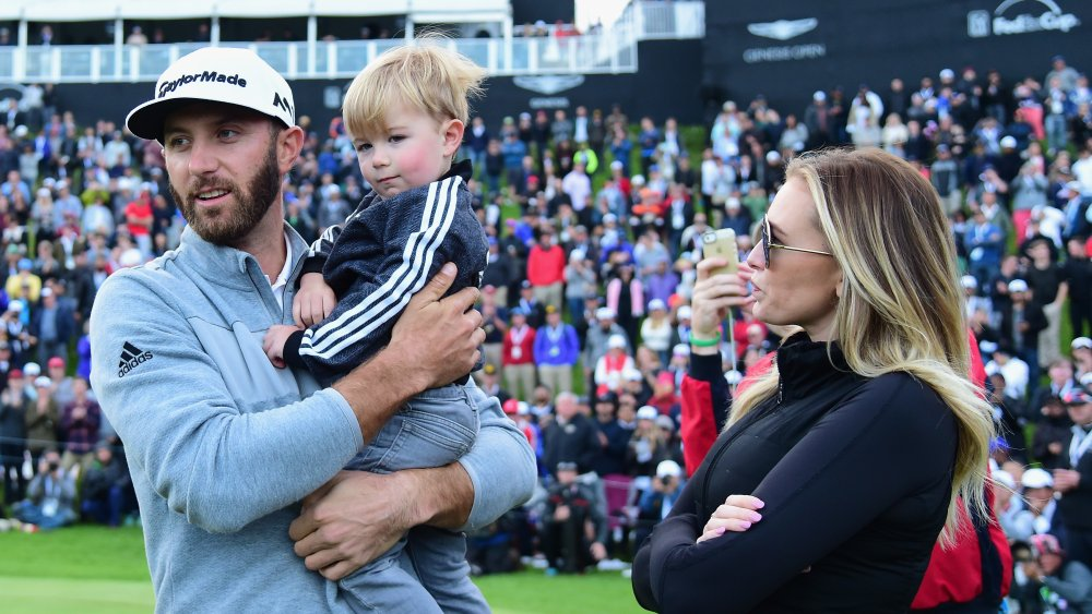 Dustin Johnson, Tatum Johnson, Paulina Gretzky en el Genesis Open en 2017