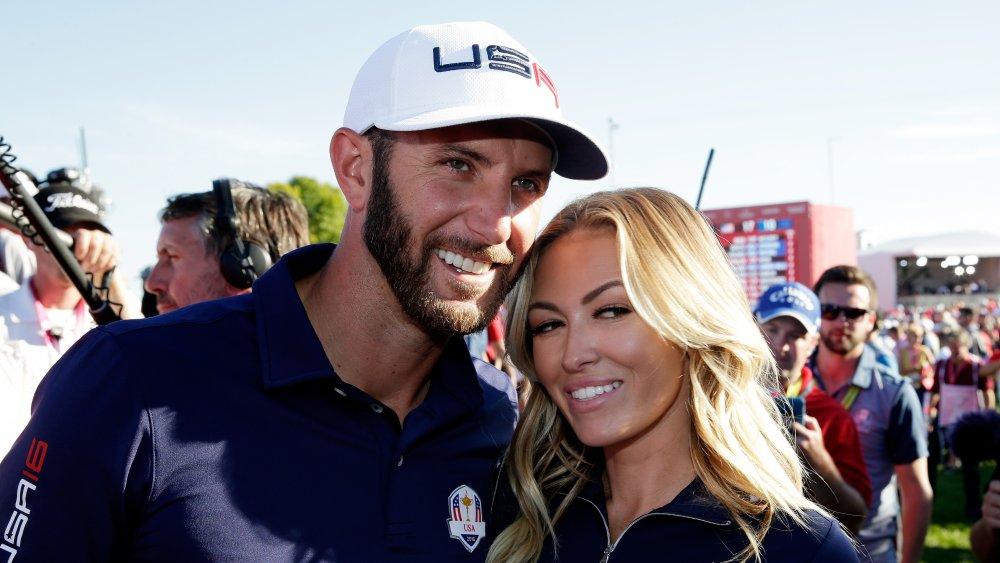 Dustin Johnson y Paulina Gretzky en la Ryder Cup 2016