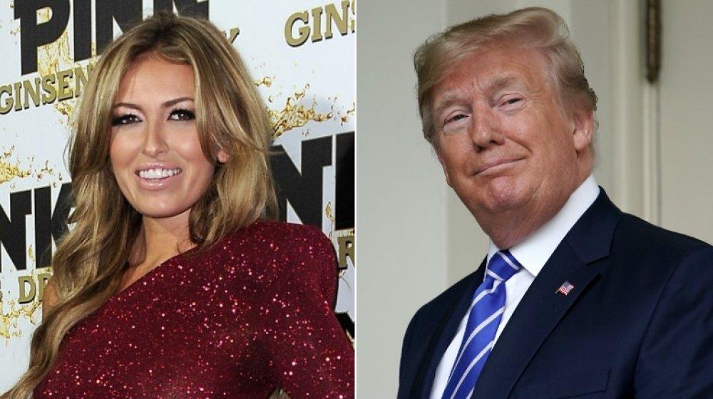 Paulina Gretzky en una fiesta de lanzamiento en 2012;  Donald Trump