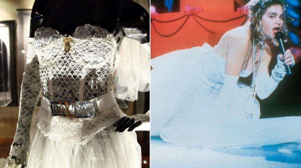 El vestido que Madonna usó en los VMA de 1984;  Madonna actúa en los MTV Video Music Awards de 1984