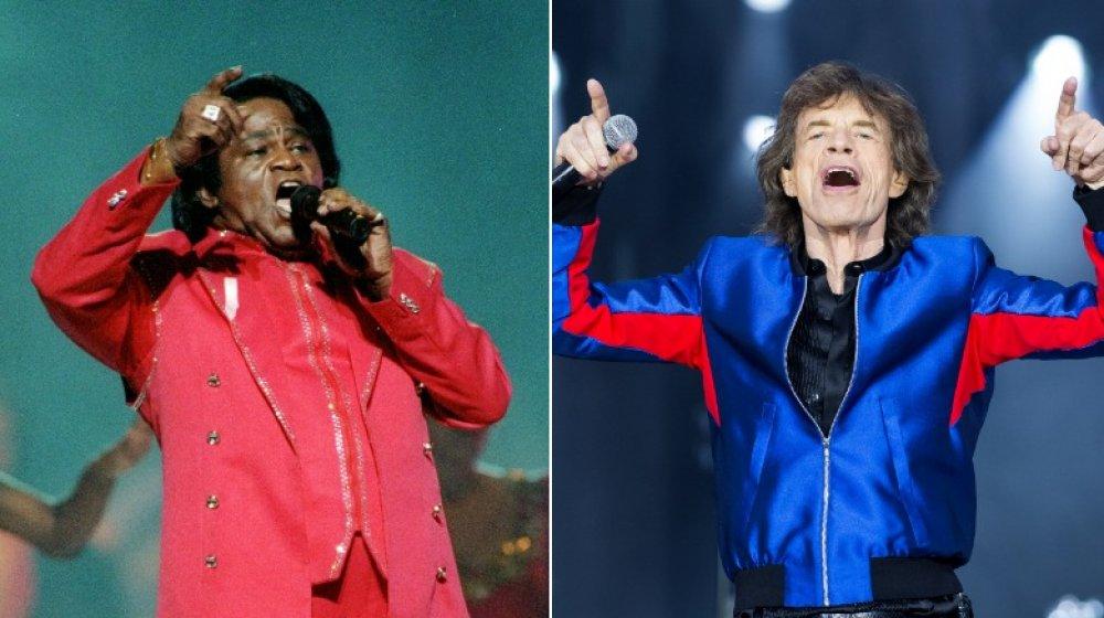 James Brown y Mick Jagger