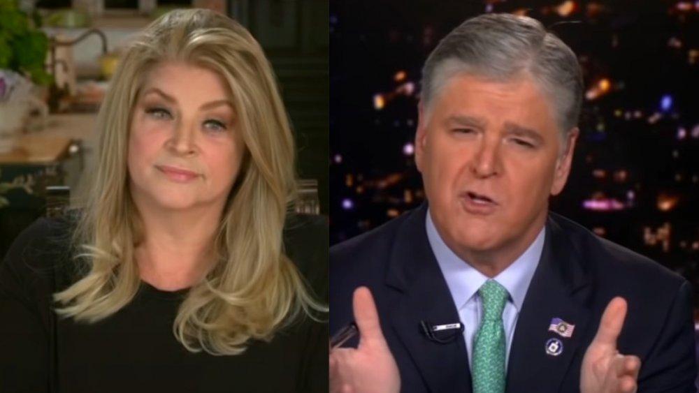 Kirstie Alley y Sean Hannity sobre Hannity en 2020