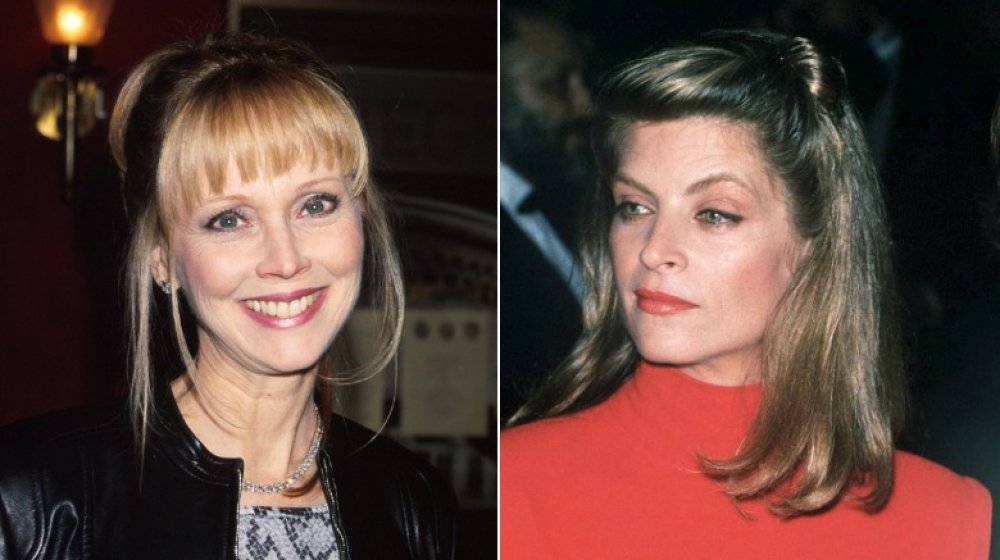 Shelley Long en el estreno de Dr. T and the Women en 2000;  Kirstie Alley en 1990