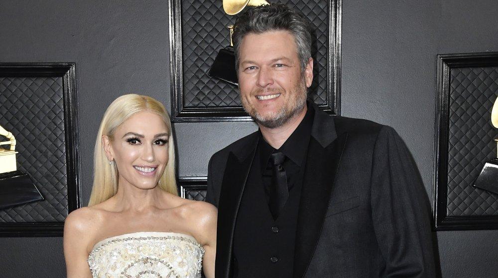 Gwen Stefani y Blake Shelton en la 62a entrega anual de los premios Grammy