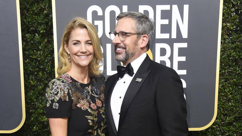 Nancy Carell y Steve Carell en los Globos de Oro