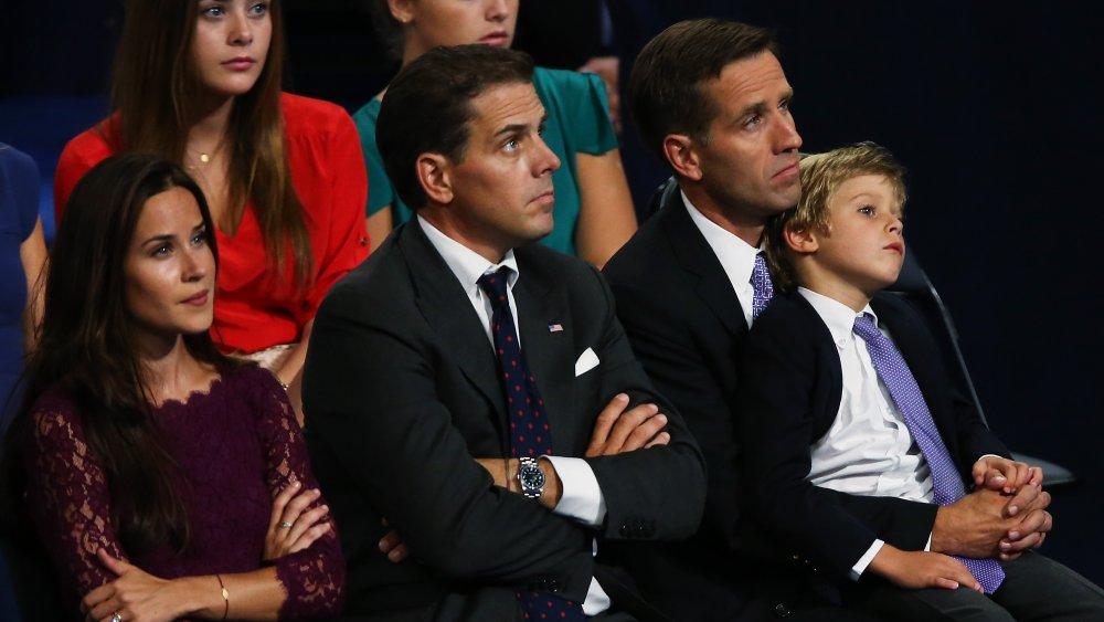 Ashley Biden, Hunter Biden y Beau Biden en la Convención Nacional Demócrata