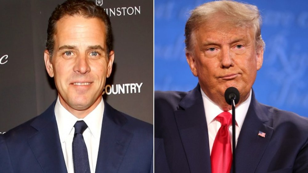 Hunter Biden en T&C Philanthropy Summit en 2014;  Donald Trump en el debate presidencial final en 2020