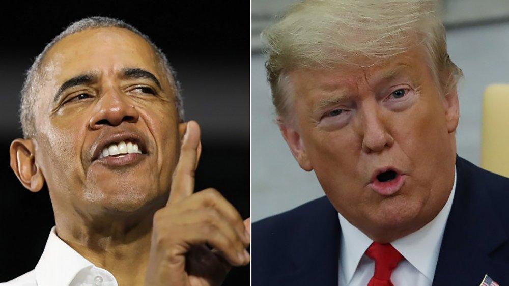 Presidente Barack Obama y Presidente Donald Trump