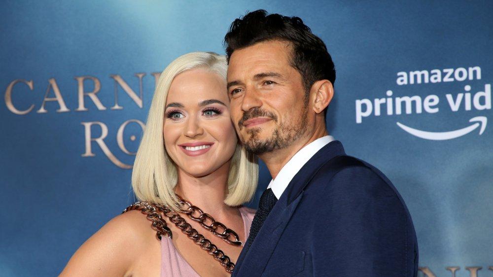 Katy Perry y Orlando Bloom en el estreno de Carnival Row en Los Ángeles en 2019