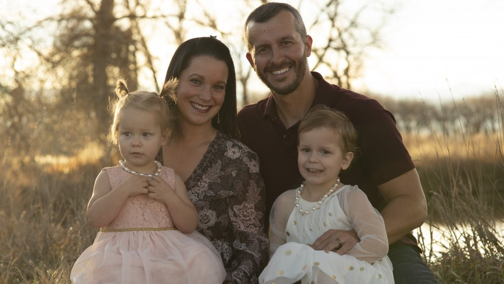 Chris y Shanann Watts con sus hijas, que aparecen en American Murder: The Family Next Door