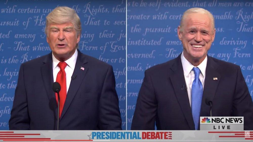 SNL frío abierto de Alec Baldwin como Donald Trump y Jim Carrey como Joe Biden