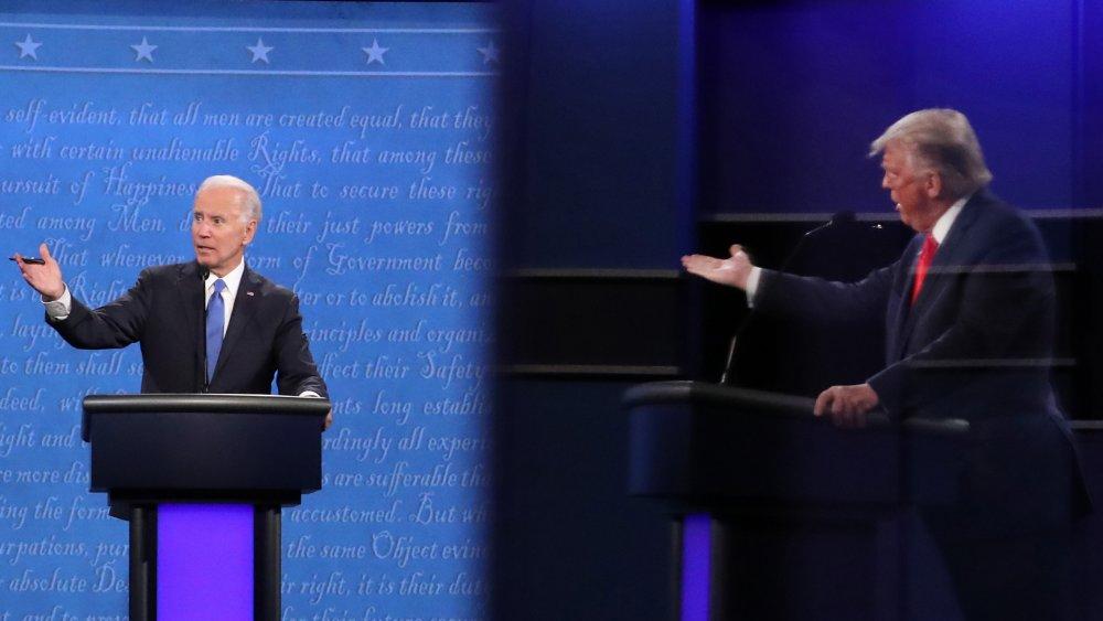 Exvicepresidente Joe Biden y presidente Donald J. Trump