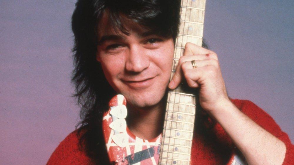 Eddie Van Halen de gira en 1986