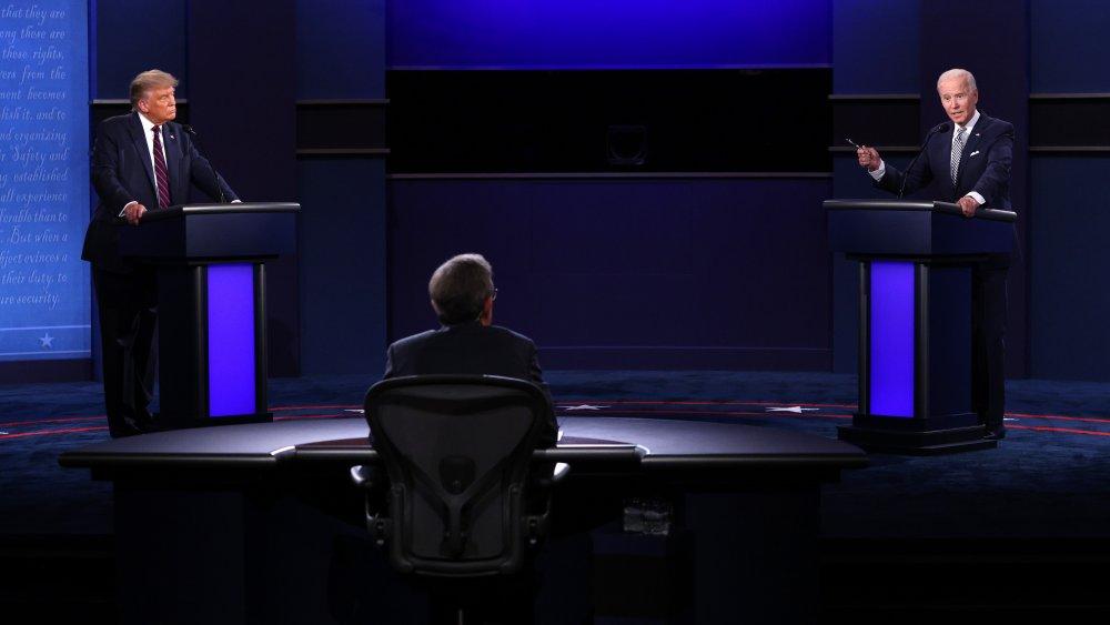 Donald Trump, Joe Biden, Chris Wallace en el debate