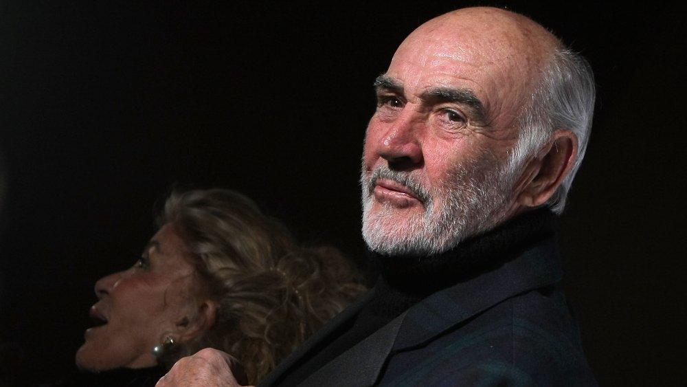 Sean Connery y su esposa asistieron a un desfile de modas en 2009