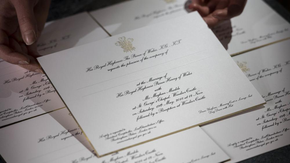 Invitación de boda del príncipe Harry y Meghan Markle