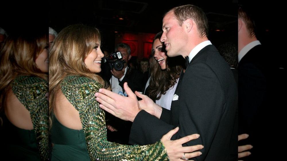 Jennifer Lopez, Kate Middleton y el Príncipe William