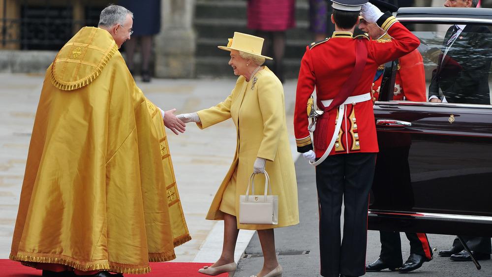 Llegada de la reina Isabel