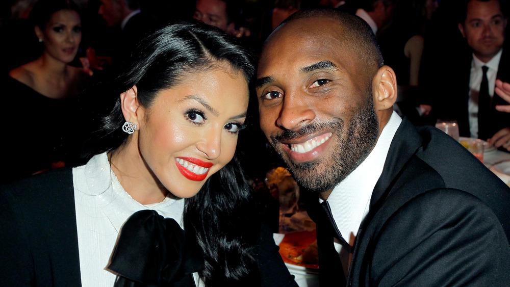 Vanessa Bryant y Kobe Bryant en la cena