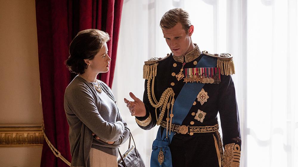 Matt Smith como el príncipe Felipe en The Crown