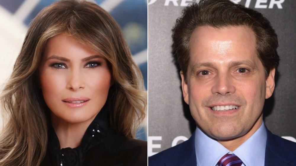 Melania Trump y Anthony Scaramucci;  división