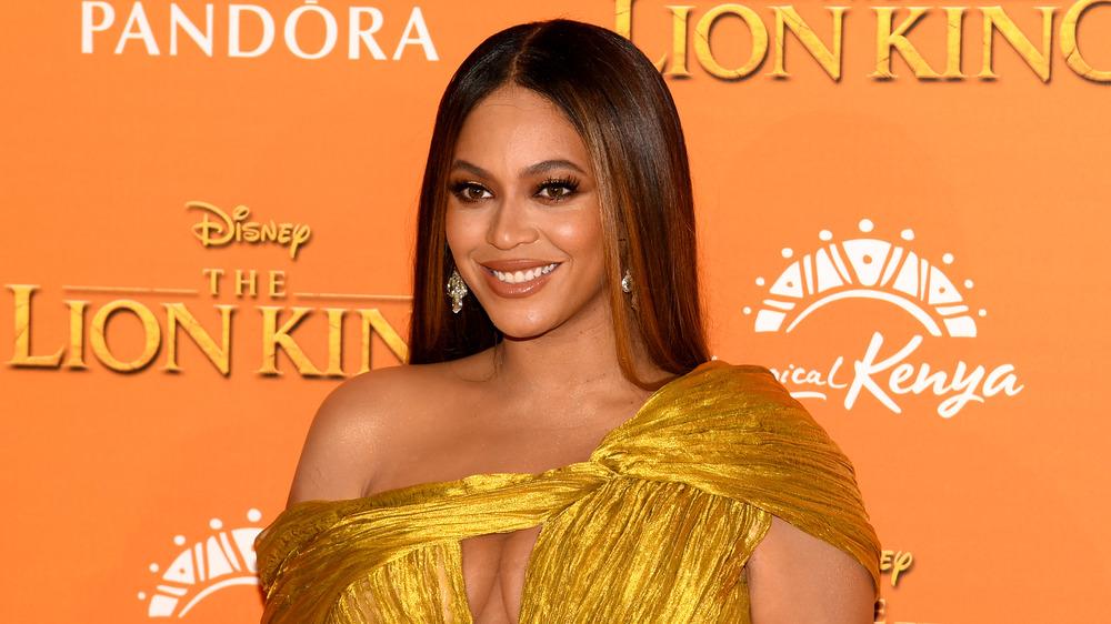 Beyonce en el estreno del Rey León
