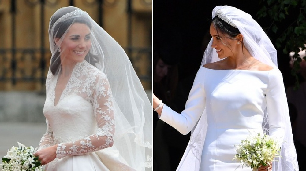 Vestidos de novia de Kate Middleton y Meghan Markle