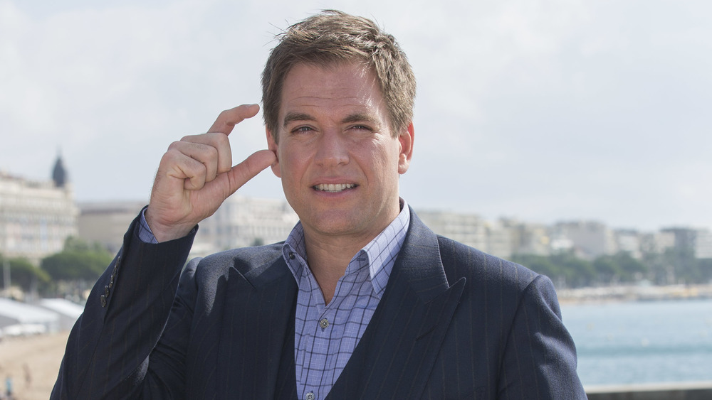 Michael Weatherly de pie