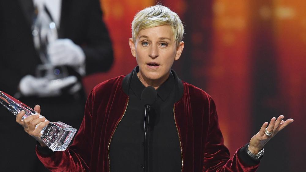 Ellen DeGeneres aceptando un premio