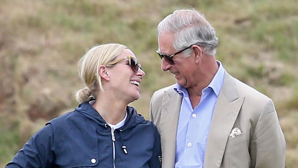 Zara Tindall y el príncipe Carlos riendo