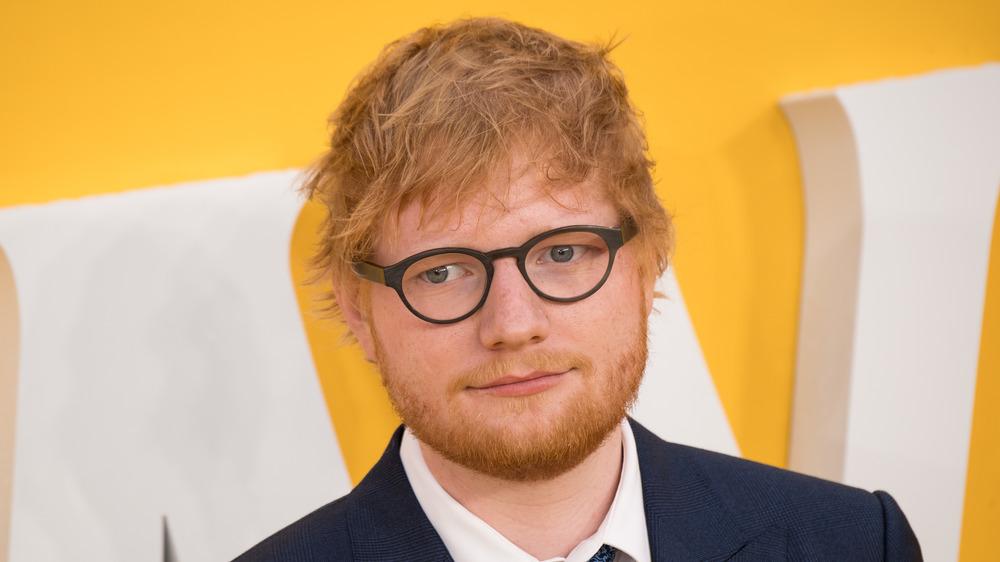 Ed Sheeran en el estreno de ayer