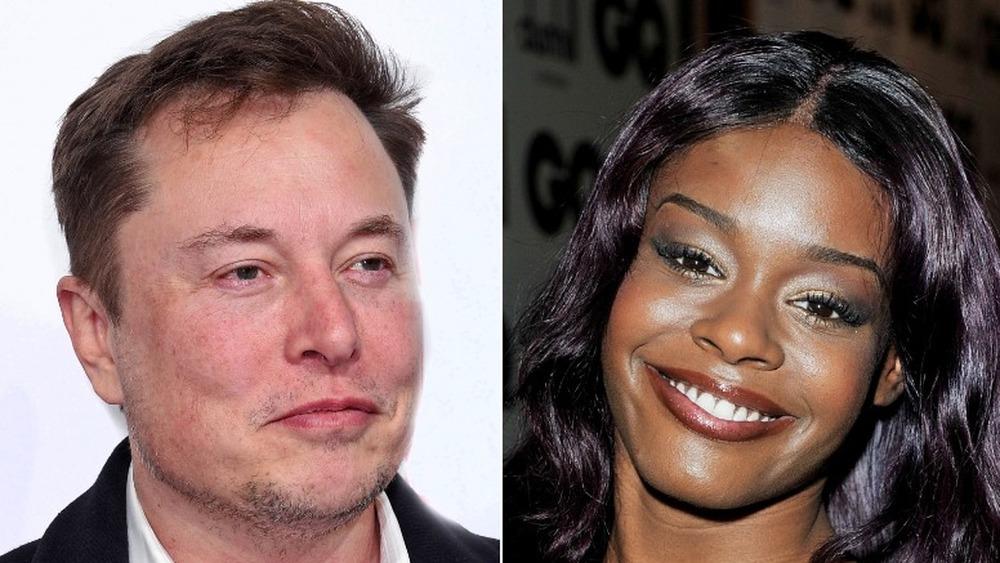 Elon Musk sonriendo (izquierda), Azealia Banks sonriendo (derecha)