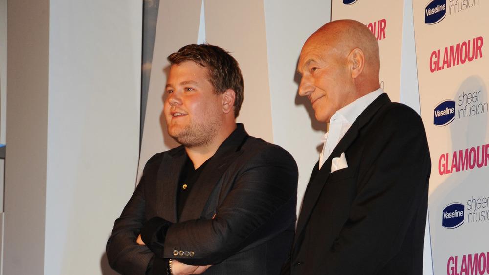 James Corden y Patrick Stewart