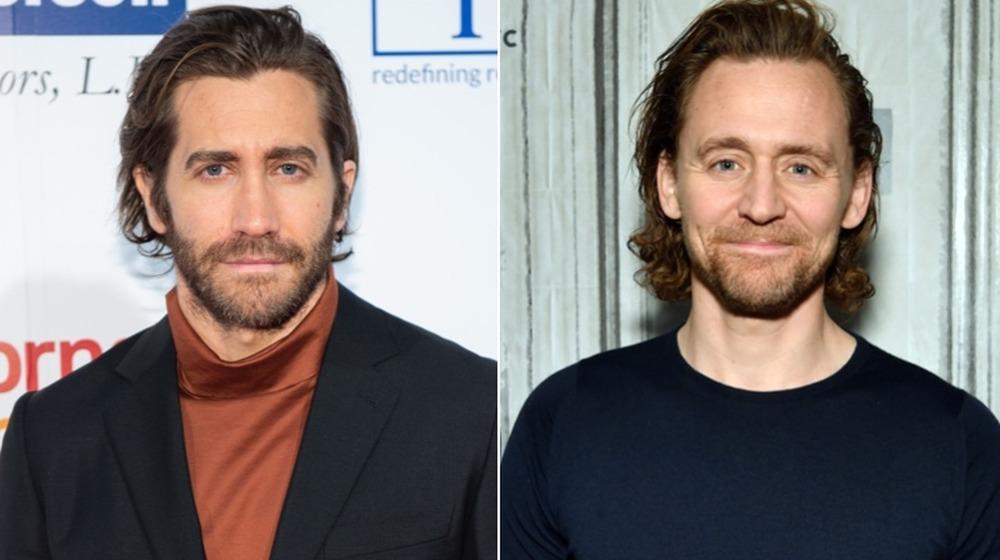 Jake Gyllenhaal y Tom Hiddleston posando