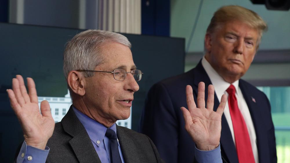 Anthony Fauci y Donald Trump