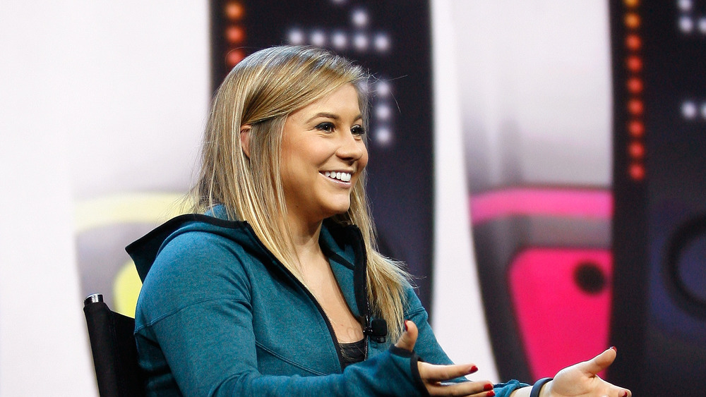Shawn Johnson en una charla