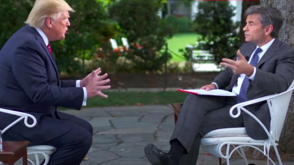 Donald Trump y George Stephanopoulos en una entrevista