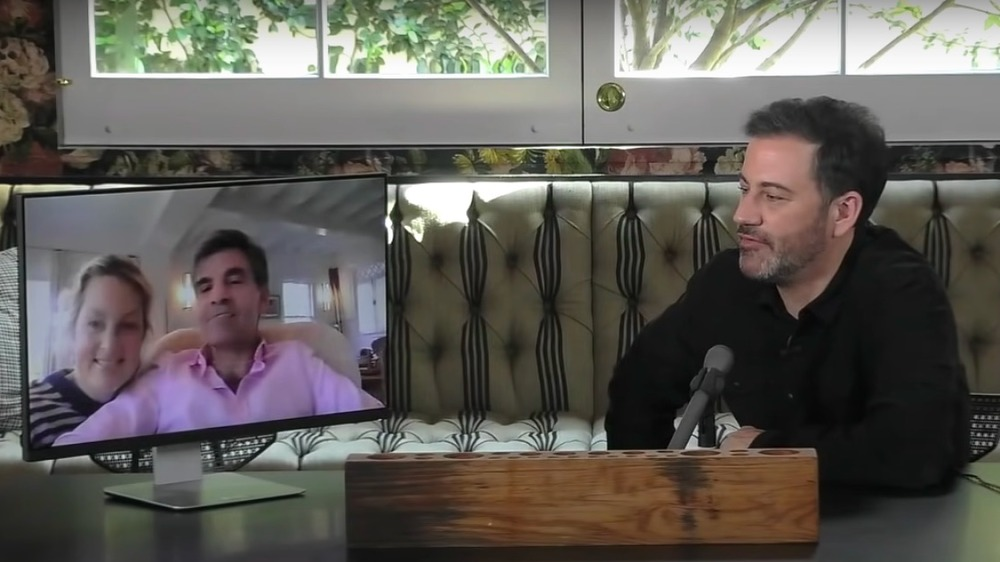 Ali Wentworth y George Stephanopoulos en Jimmy Kimmel Live
