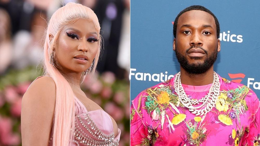 Nicki Minaj y Meek Mill mirando a la cámara