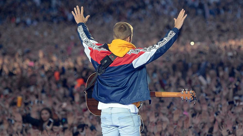 Justin Bieber en el escenario