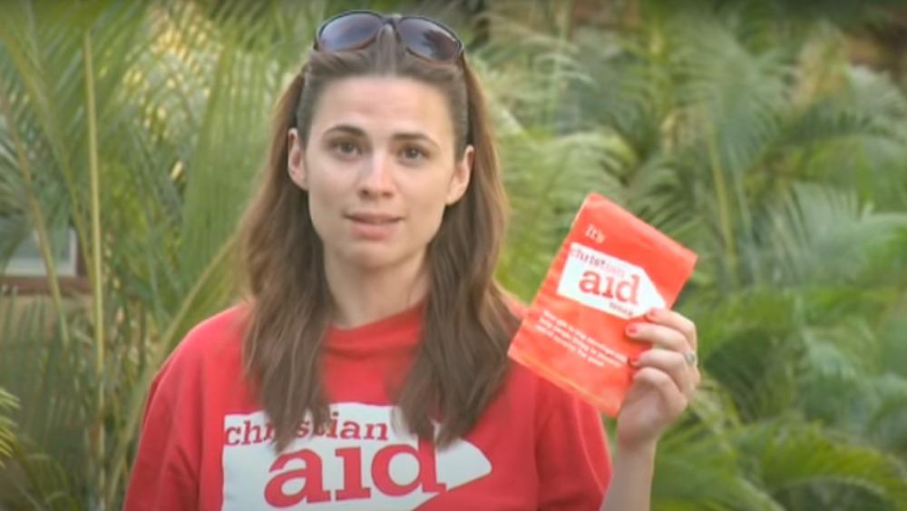 Hayley Atwell promocionando Christian Aid