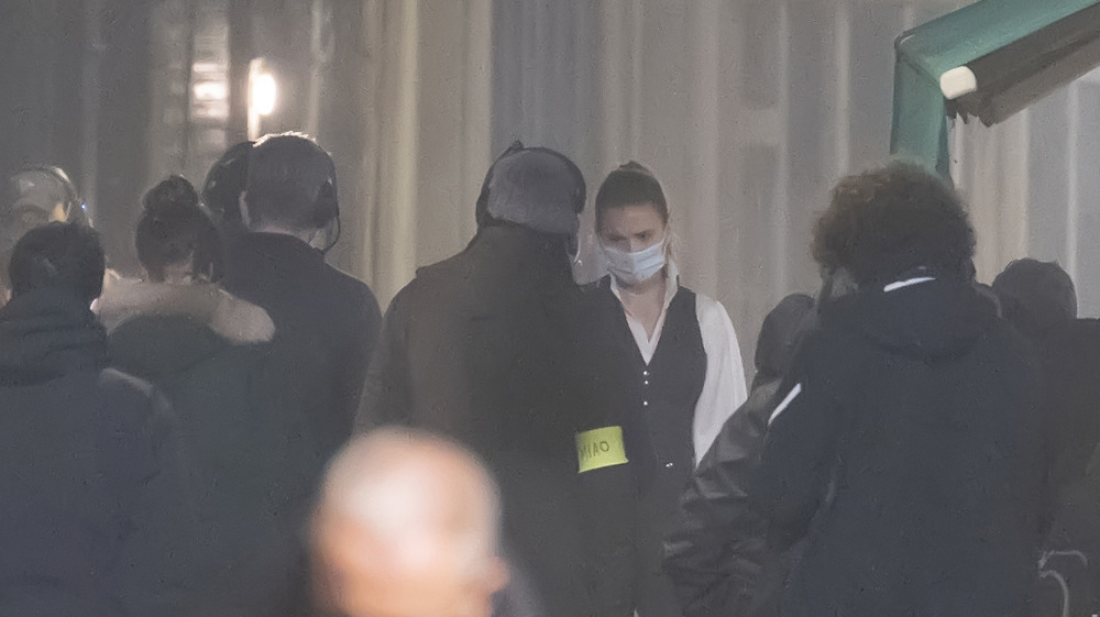 Hayley Atwell en Mission: Impossible set
