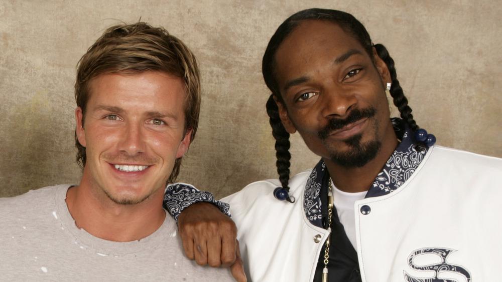 David Beckham y Snoop Dogg sonriendo