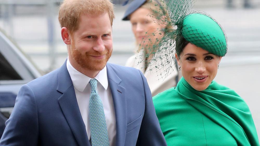 El príncipe Harry con Meghan Markle en un evento