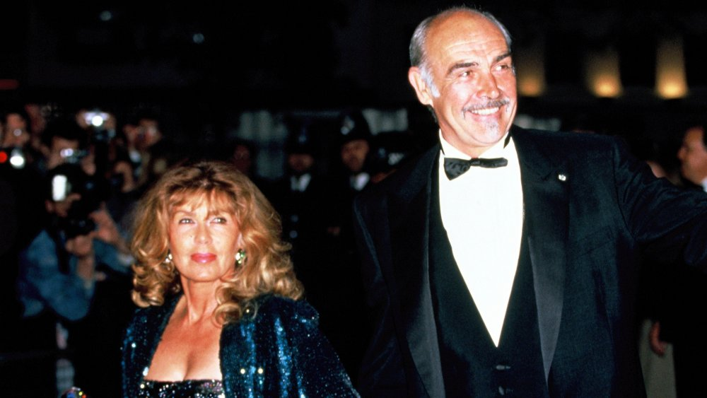 Micheline Roquebrune y Sean Connery