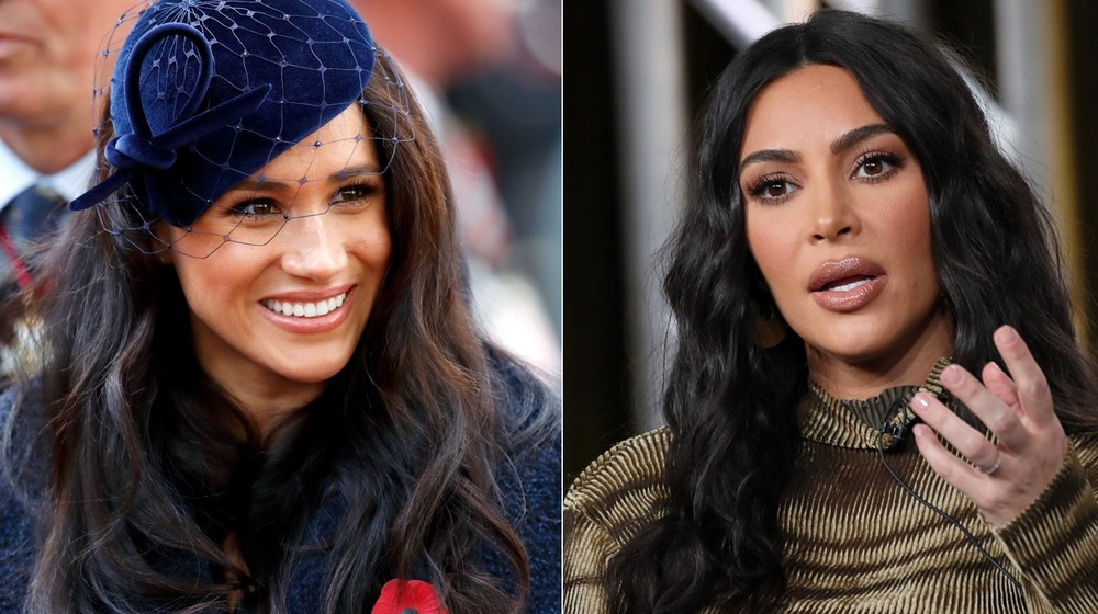 Meghan Markle y Kim Kardashian sonriendo
