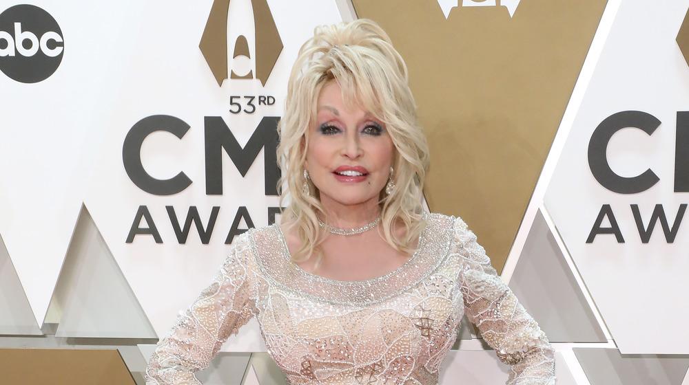 Dolly Parton en la entrega de premios