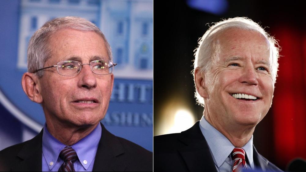 Anthony Fauci y Joe Biden