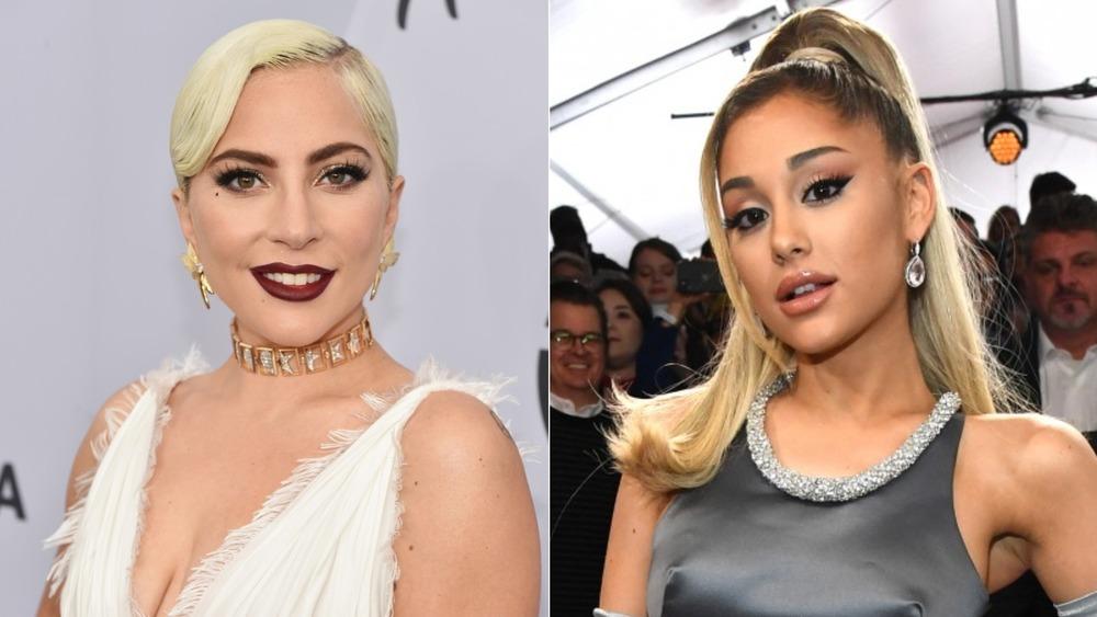 Lady Gaga y Ariana Grande en la alfombra roja